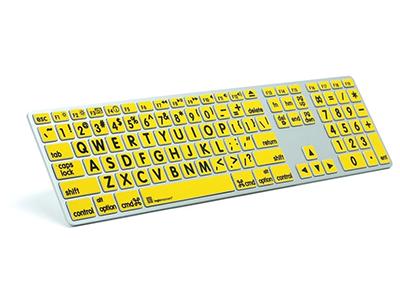 LargePrint Zwart op Geel - Mac Advance Line Keyboard