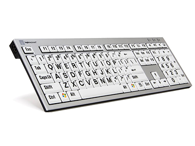 LargePrint Zwart op Wit – PC Slim Line Keyboard
