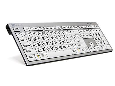 LargePrint Zwart op Wit – PC Slim Line Keyboard