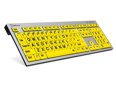LargePrint Zwart op Geel – PC Slim Line Keyboard